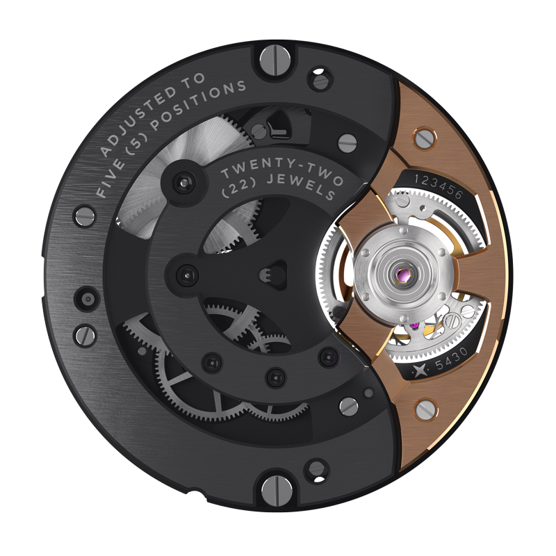 """Seed VMF 5430/22 Extra-thin flying tourbillon Titanium/Gold 13,5""""' manual winding – Front"""